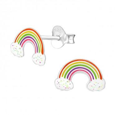 Frosty Rainbow Ear Studs
