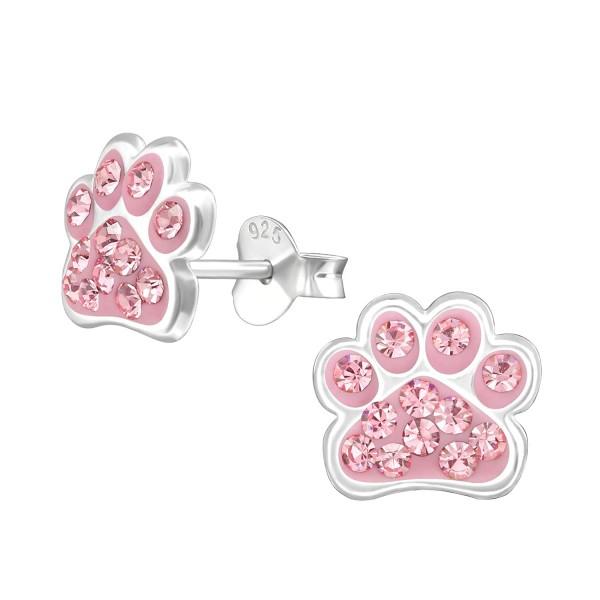 Rosie Crystal Paw Ear Studs