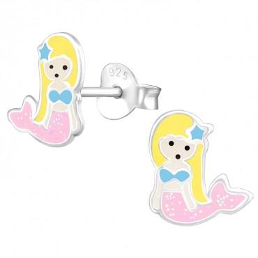 Pinky Mermaid Ear Studs
