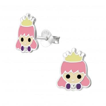 Princess Crystal Ear Studs