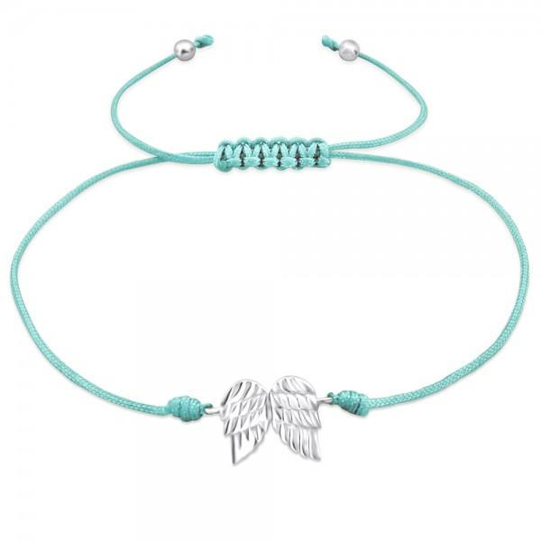 Silver Wings Corded Bracelet