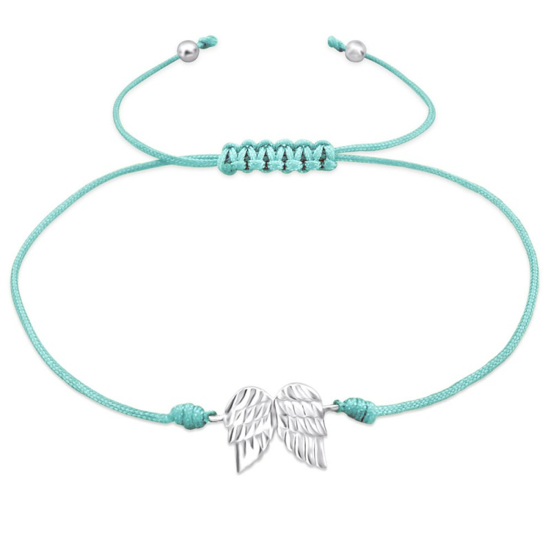 Silver Wings Corded Bracelet