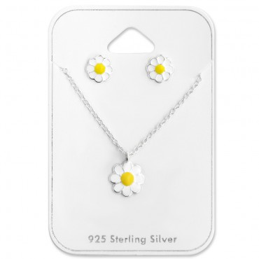 White Yellow Flower Set