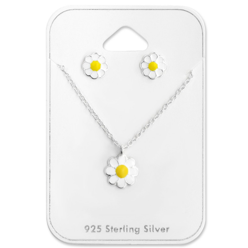 White Yellow Flower Set