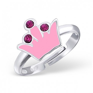 Pink Tiara Crystal Ring