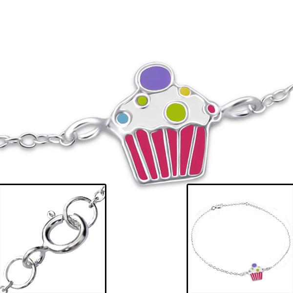 Silver Cupcake Bracelet