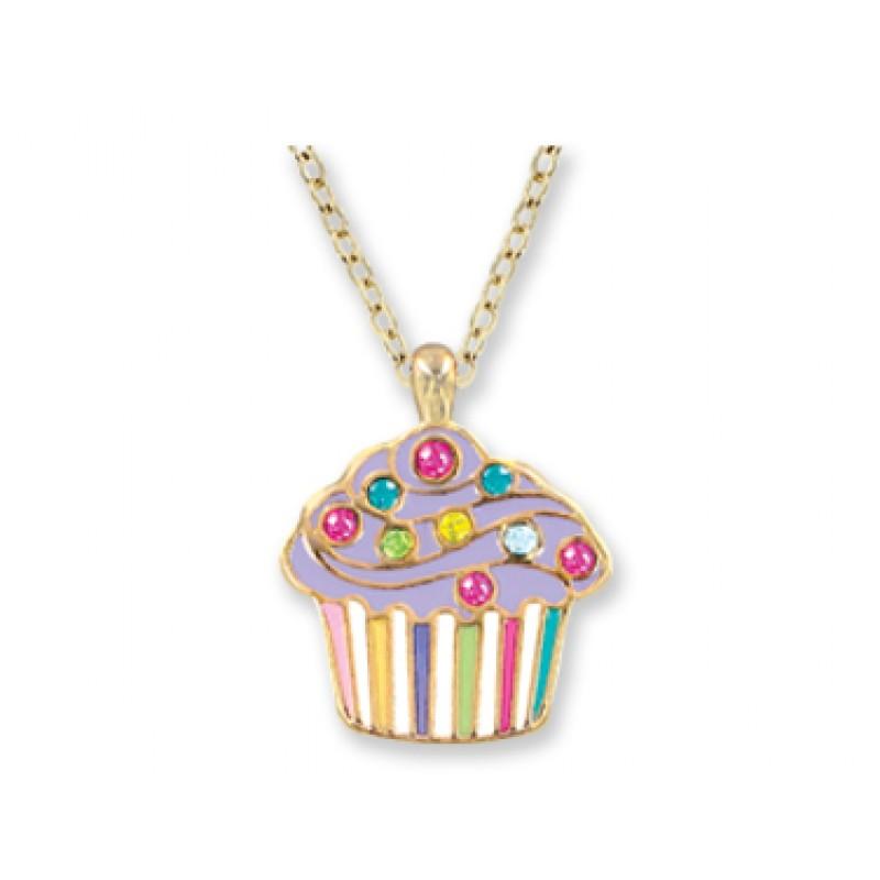 Purple Cupcake Necklace in Cupcake Box