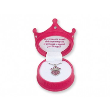 Princess Crown Necklace in Pink Princess Box