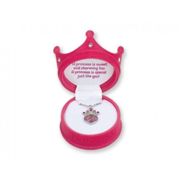 Princess Crown Necklace in Pink Princess Box