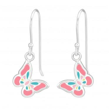 Cute Pink Blue Butterfly Earrings