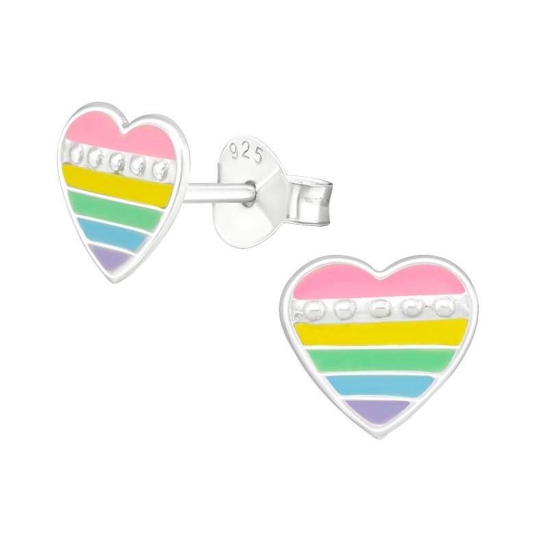 Candy Heart Ear Studs