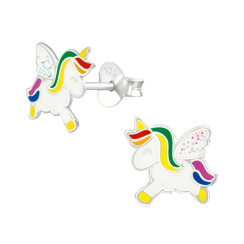 Rainbow Unicorn Ear Studs