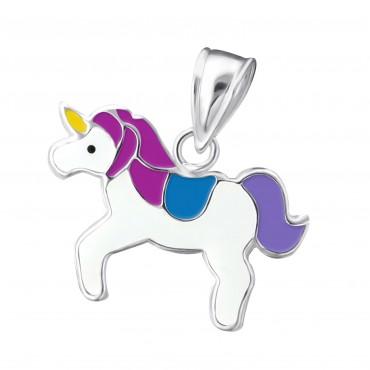 Cute Purple Blue Unicorn Pendant