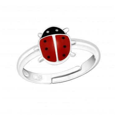 Red Ladybug Ring