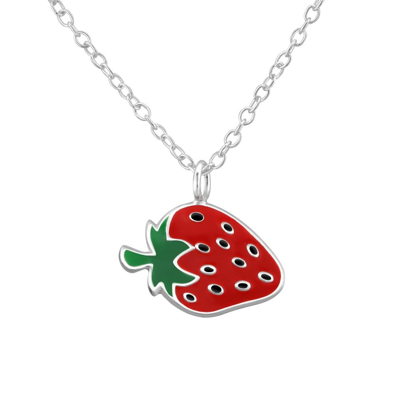 Dotted Strawberry Necklace
