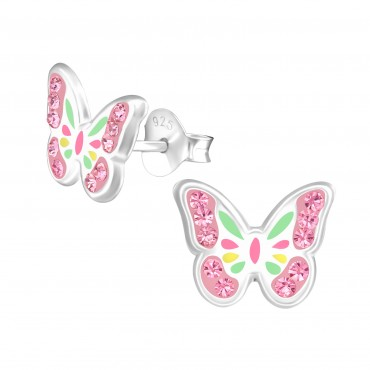 Magical Crystal Butterfly Earrings