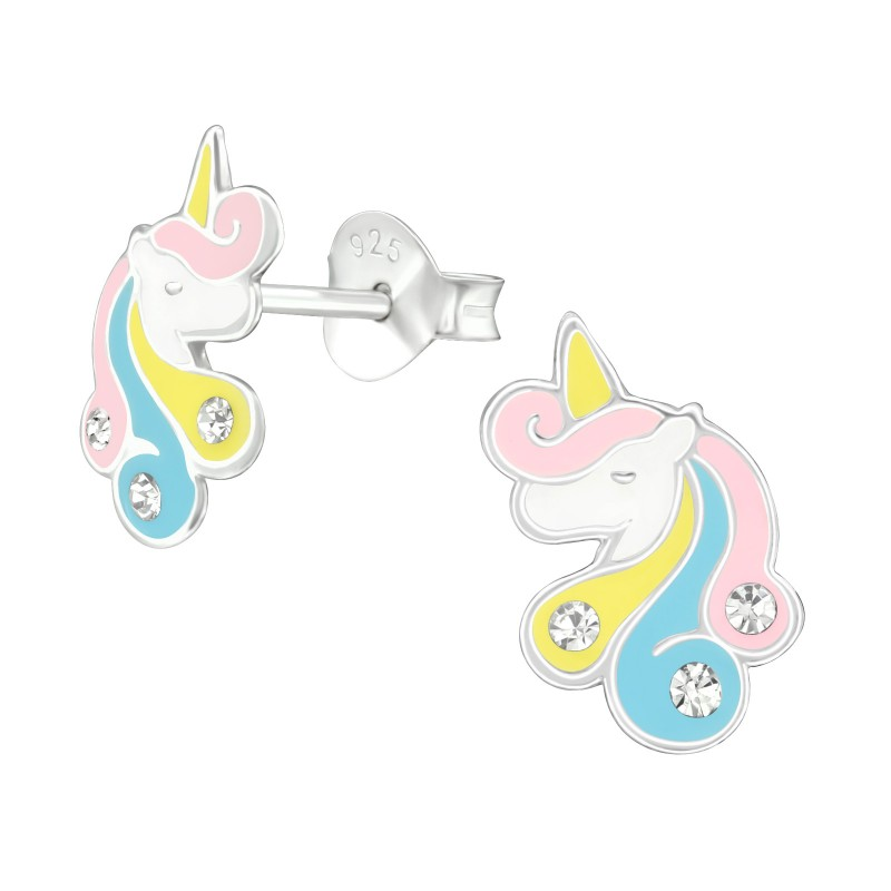 Elegant Unicorn Crystal Ear Studs