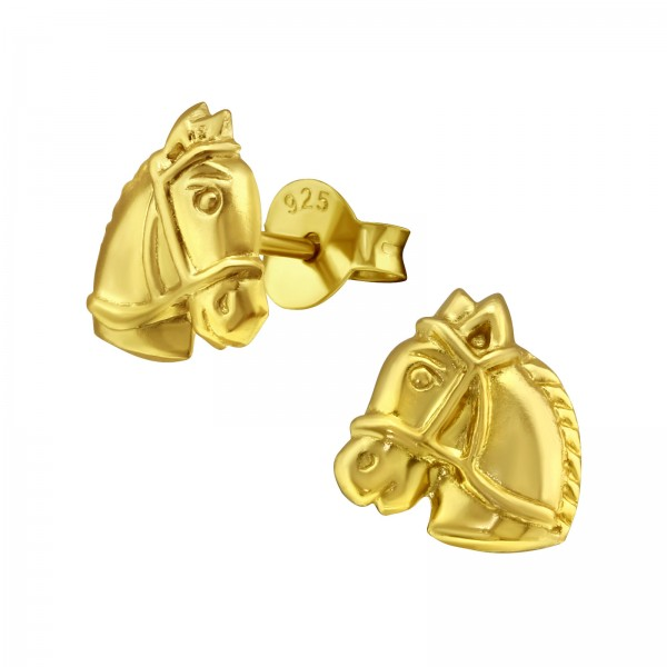 Gold Plated Horse Earrings