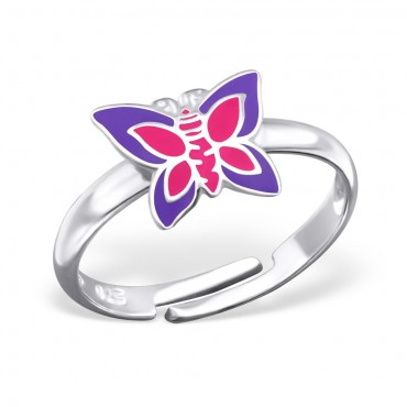 Purple Pink Butterfly Ring