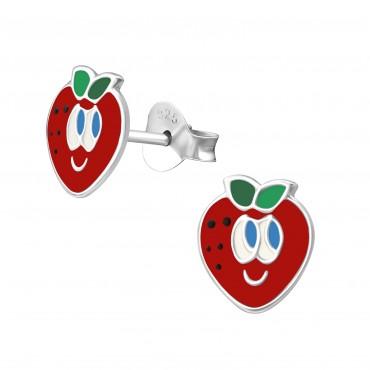 Smiley Strawberry Ear Studs