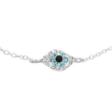 Crystal Hamza Hand Bracelet