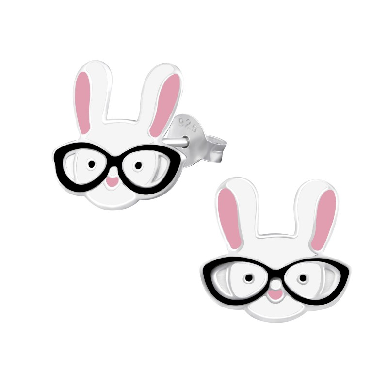 Bunny with Glasses Ear Studs