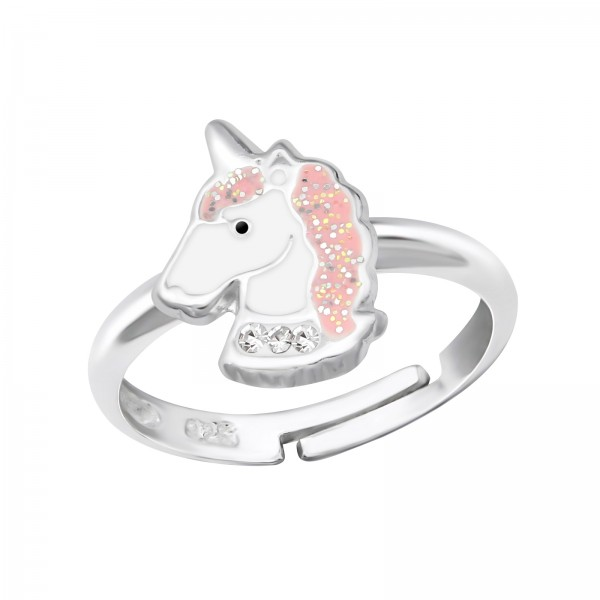 Cute Unicorn Crystal Ring