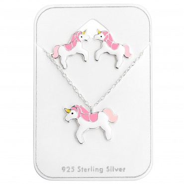 Pink White Unicorn Set