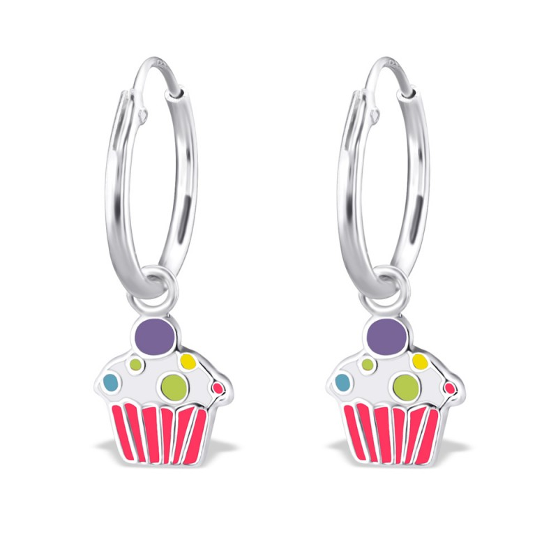 Pinky Cupcake Hoops