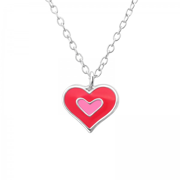 Pinky Heart Necklace