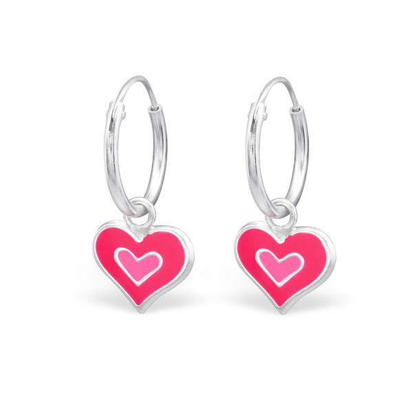 Pinky Heart Hoops
