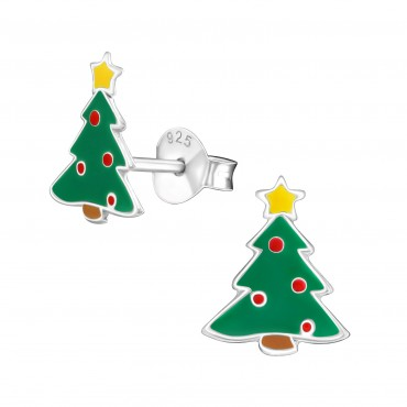 Cute Christmas Tree Ear Studs