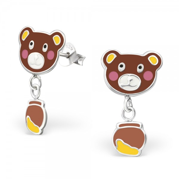 Bear with Honey Pot Earrings