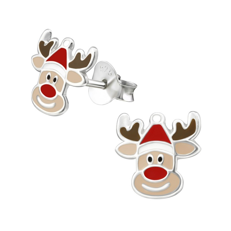 Red Nose Reindeer Ear Studs