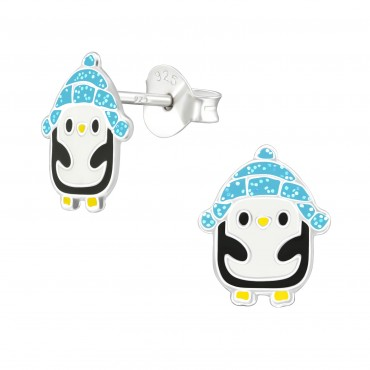 Icy Penguin Ear Studs