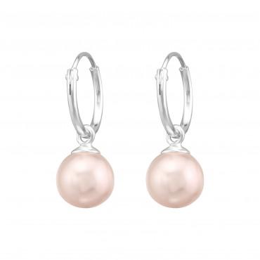 Pink Freshwater Pearl Hoops
