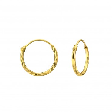 Gold Plated Twirly Hoops