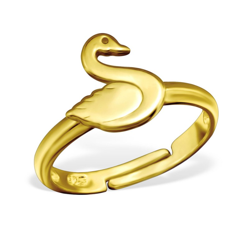 Gold Plated Swan Ring