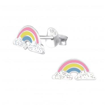 Rainbow Clouds Ear Studs