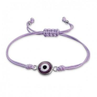 Lavender Evil Eye Bracelet