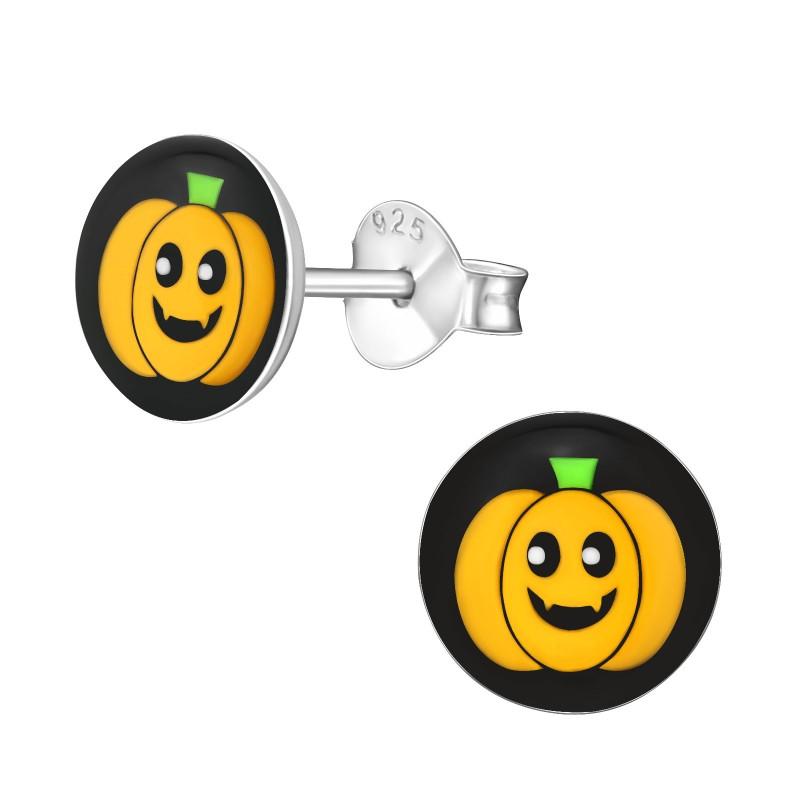 Halloween Pumpkin Logo Ear Studs