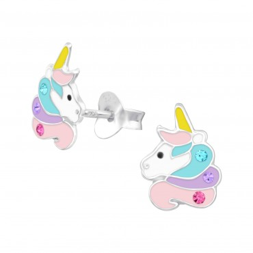 Magical Unicorn Crystal Ear Studs
