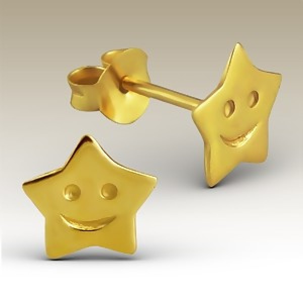 SMILEY STAR EARRINGS