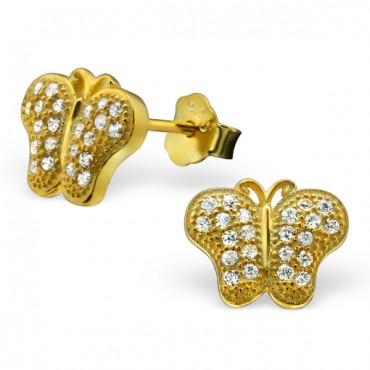 Gold Plated Elegant Butterfly Earrings